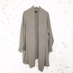 J Crew • Open Shawl Collar Cardigan Sweater Wool